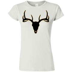 Buck Head Deer Skull G640L Gildan Softstyle Ladies' T-Shirt