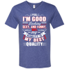 """Humility""  Anvil Men's Printed V-Neck T-Shirt"