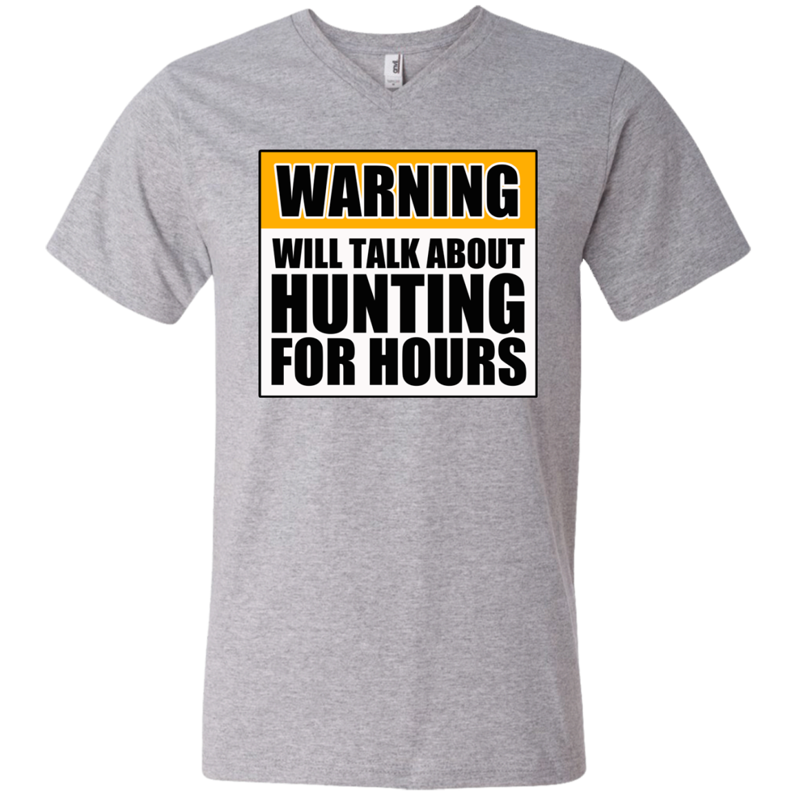 Warning Will Talk About Hunting For Hours Men's Printed V-Neck T