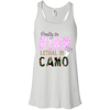 """Pretty In Pink. Lethal In Camo"" Bella + Canvas Flowy Racerback Tank"