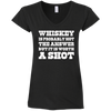 """Worth A Shot"" G64VL Gildan Ladies' Fitted Softstyle 4.5 oz V-Neck T-Shirt"