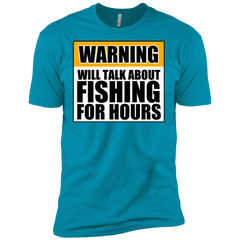 Will Talk About Fishing For Hours Next Level Premium Short Sleeve Tee