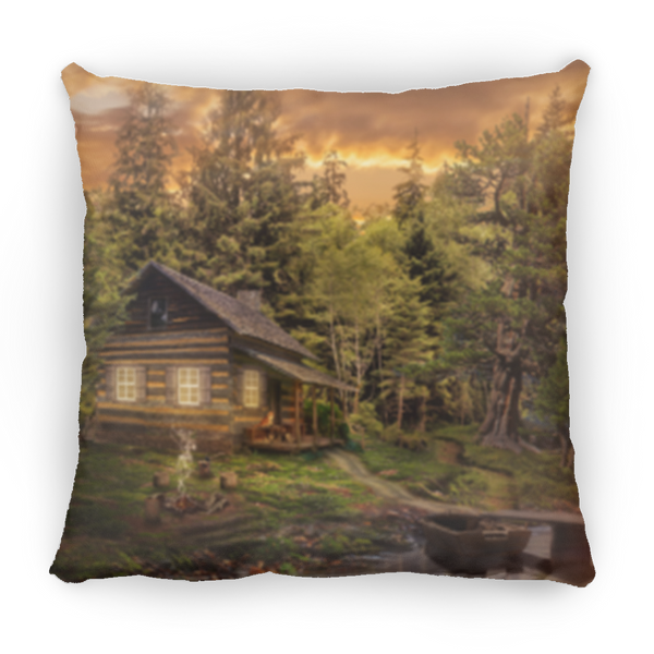 Country Cabin Square Pillow 14x14
