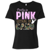 """Pretty In Pink Lethal In Camo"" B6400 Bella + Canvas Ladies' Relaxed Jersey Short-Sleeve T-Shirt"