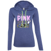 """Pretty In Pink. Lethal In Camo"" Anvil Ladies' LS T-Shirt Hoodie"