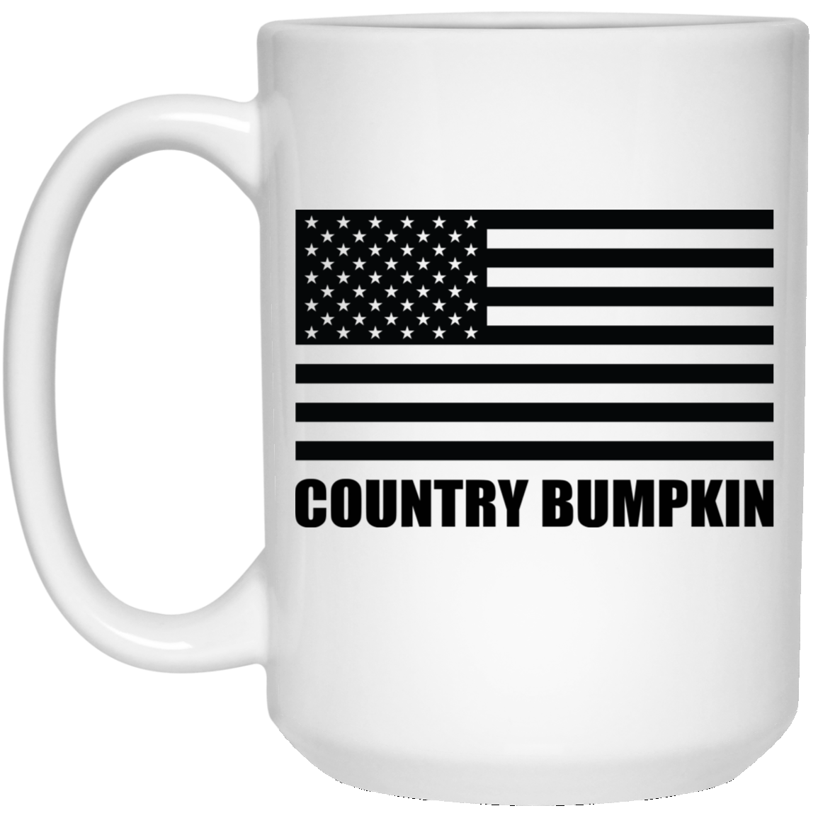 Country Bumpkin American Flag 15 oz. Coffee Mug