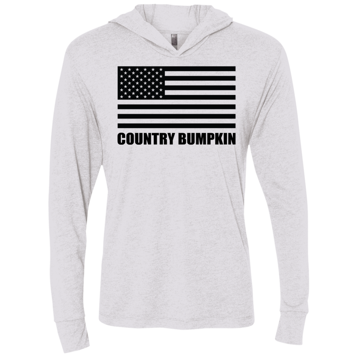Country Bumpkin American Flag NL6021 Unisex Triblend LS Hooded T-Shirt