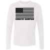 Country Bumpkin Black USA Flag NL3601 Men's Premium LS