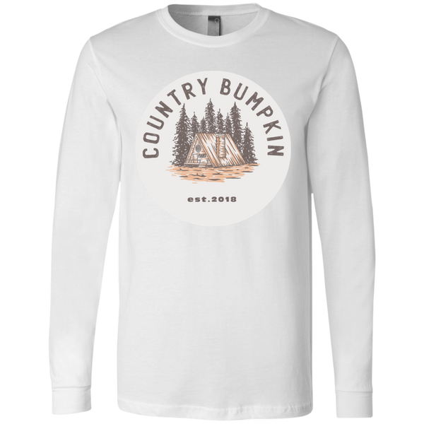 """Country Bumpkin"" Cottage Est 2018 3501 Men's Jersey LS T-Shirt"