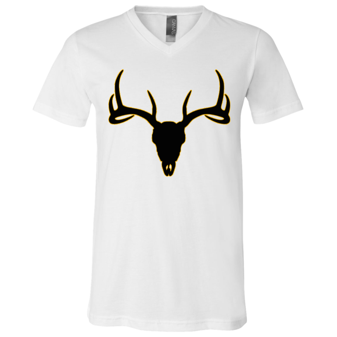 Buck Head Deer Skull 3005 Bella + Canvas Unisex Jersey SS V-Neck T-Shirt