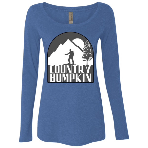 Country Bumpkin Hiker NL6731 Ladies' Triblend LS Scoop