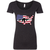 2A USA Ladies' Triblend Scoop