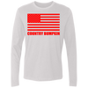 """Country Bumpkin"" Red American Flag NL3601 Men's Premium LS"