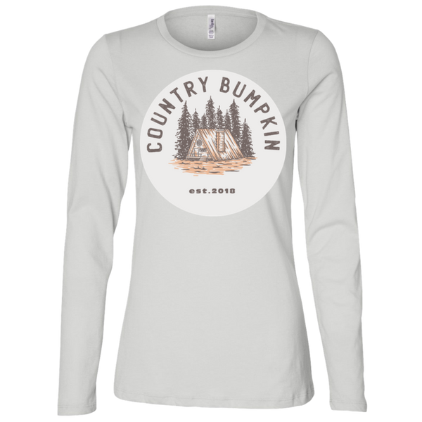 """Country Bumpkin"" Cottage Est 2018 B6450 Ladies' Jersey LS Missy Fit"