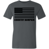 Country Bumpkin American Flag 3001U Unisex Made in the USA Jersey Short-Sleeve T-Shirt