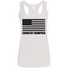 Country Bumpkin US Flag G645RL Ladies' Softstyle Racerback Tank