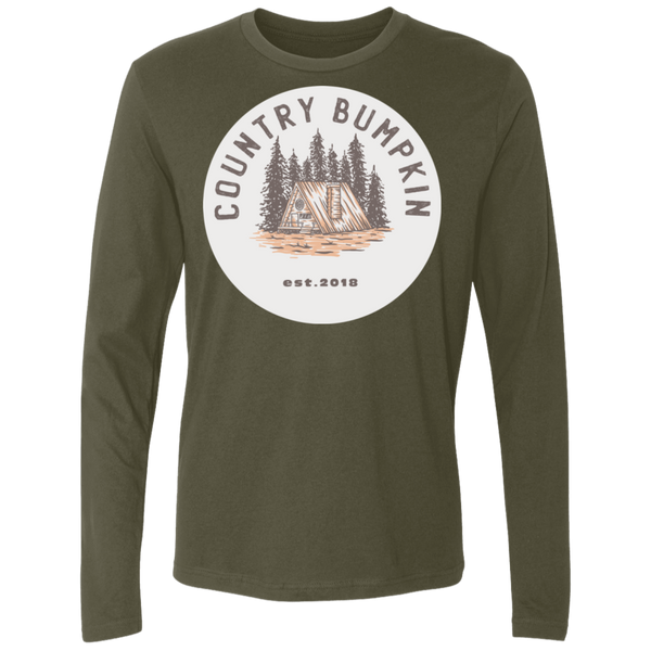 """Country Bumpkin"" Cottage Est 2018 NL3601 Men's Premium LS"