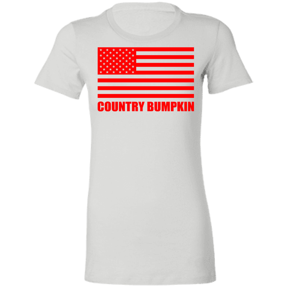 """Country Bumpkin"" Red American Flag 6004 Ladies' Favorite T-Shirt"