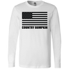 Country Bumpkin US Flag 3501 Men's Jersey LS T-Shirt