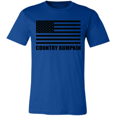 Country Bumpkin US Flag 3001C Unisex Jersey Short-Sleeve T-Shirt