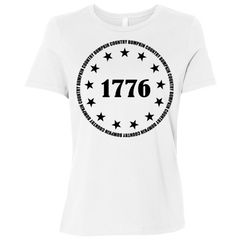 Country Bumpkin 13 stars 1776 B6400 Ladies' Relaxed Jersey Short-Sleeve T-Shirt