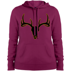 Buck Head Deer Skull LST254 Sport-Tek Ladies' Pullover Hooded Sweatshirt