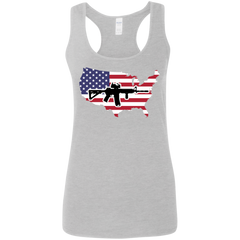 2A USA Ladies' Softstyle Racerback Tank