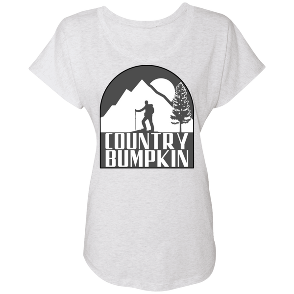 Country Bumpkin Hiker NL6760 Ladies' Triblend Dolman Sleeve