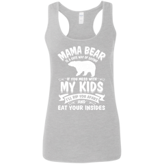 Mama Bear Top G645RL Gildan Ladies' Softstyle Racerback Tank