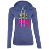 """Hunt Like A Girl"" Anvil Ladies' LS T-Shirt Hoodie"