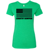 Country Bumpkin Black USA Flag NL6710 Ladies' Triblend T-Shirt
