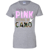 """Pretty In Pink. Lethal In Camo"" Gildan Ladies' 100% Cotton T-Shirt"