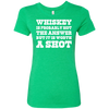 """Worth A Shot"" NL6710 Next Level Ladies' Triblend T-Shirt"