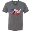 2A USA Men's Triblend V-Neck T-Shirt