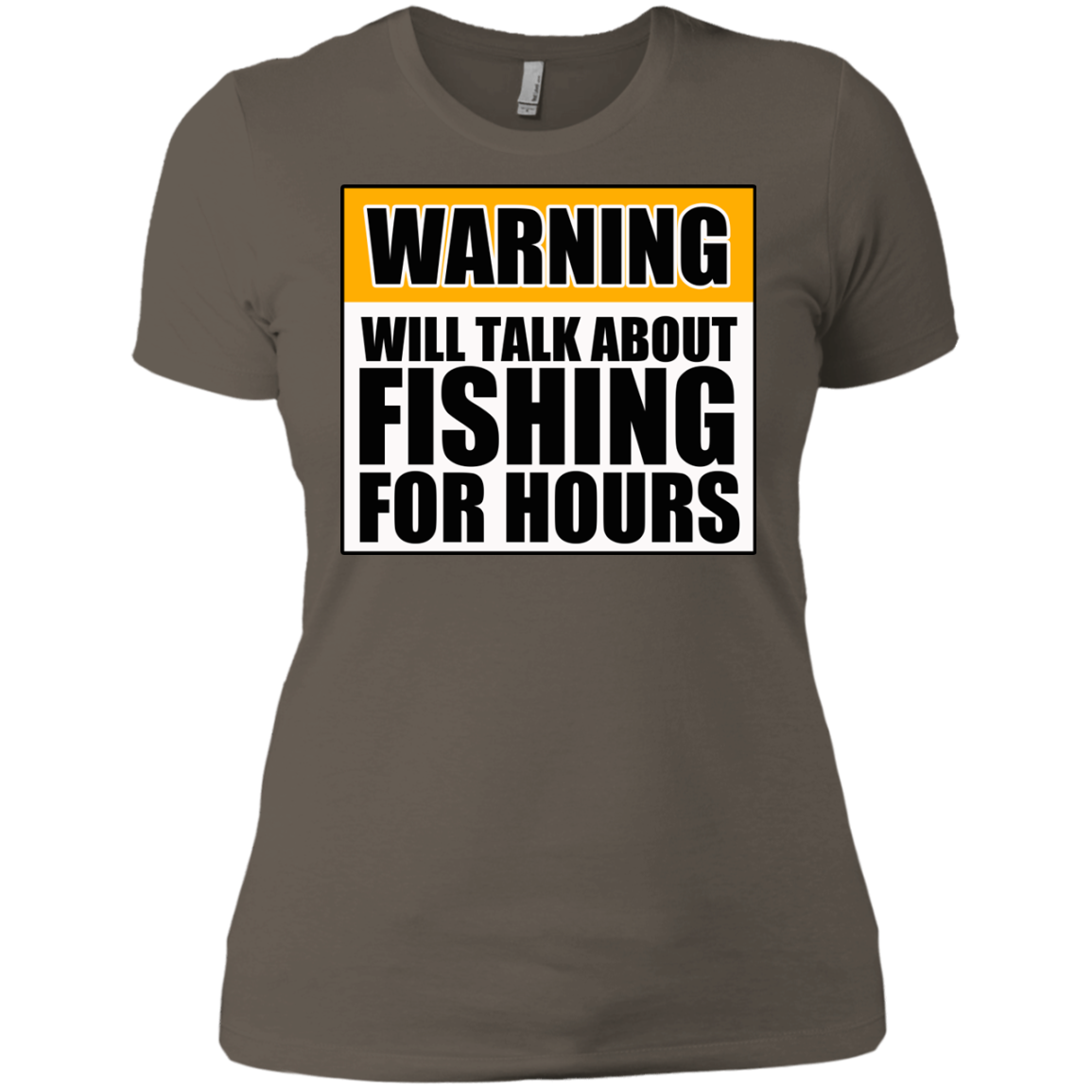 Will Talk About Fishing For Hours Next Level Ladies' Boyfriend Tee