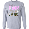 """Pretty In Pink Lethal In Camo"" G240 Gildan LS Ultra Cotton T-Shirt"
