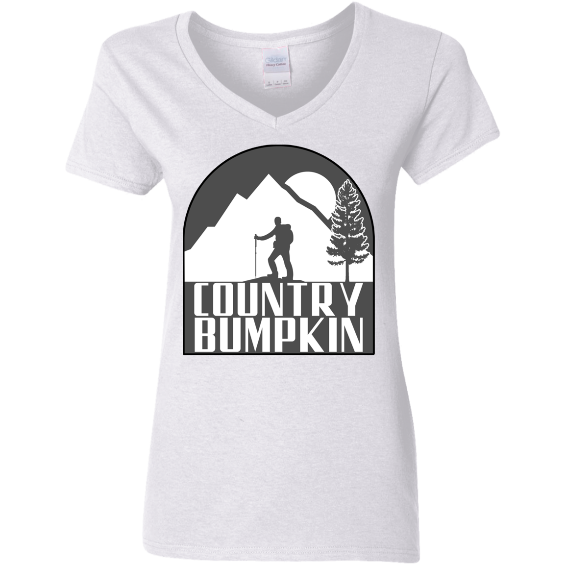 Country Bumpkin Hiker G500VL Ladies' 5.3 oz. V-Neck T-Shirt