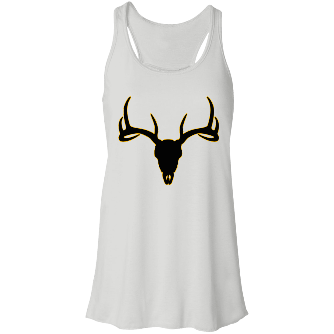 Buck Head Deer Skull B8800 Bella + Canvas Flowy Racerback Tank