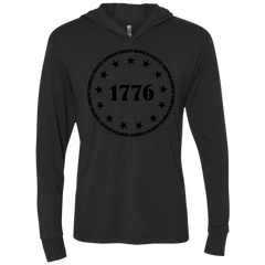 Country Bumpkin 13 stars 1776 NL6021 Unisex Triblend LS Hooded T-Shirt