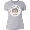 """Country Bumpkin"" Cottage Est 2018 NL3900 Ladies' Boyfriend T-Shirt"
