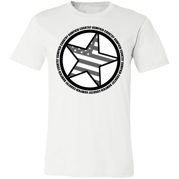 """Country Bumpkin"" Diagonal Star with Flag 3001C Unisex Jersey Short-Sleeve T-Shirt"