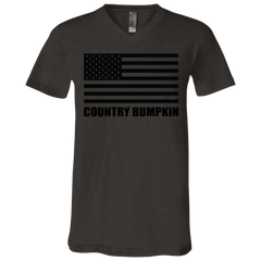 Country Bumpkin US Flag 3005 Unisex Jersey SS V-Neck T-Shirt