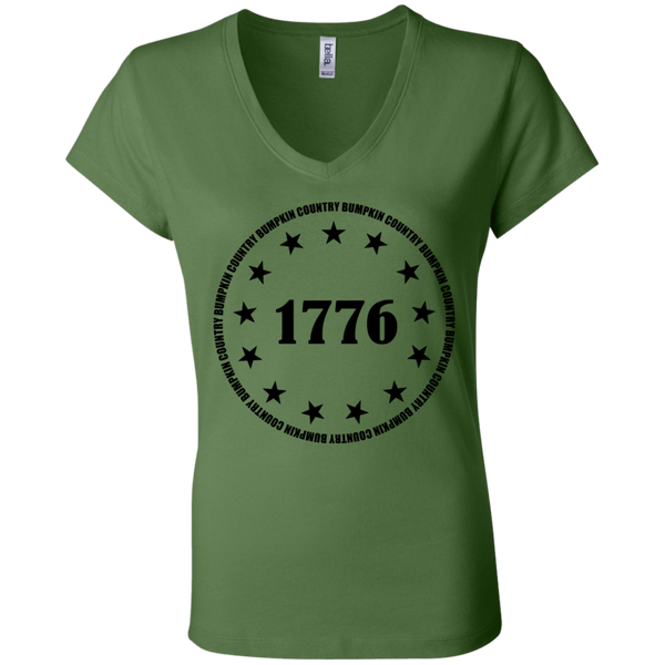 Country Bumpkin 13 stars 1776 B6005 Ladies' Jersey V-Neck T-Shirt