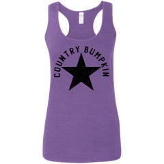 Country Bumpkin Distressed Star G645RL Ladies' Softstyle Racerback Tank