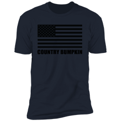 Country Bumpkin American Flag NL3600 Premium Short Sleeve T-Shirt