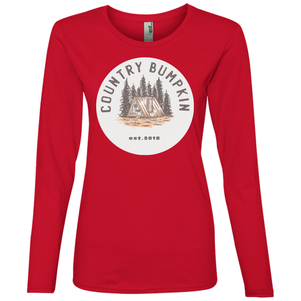 """Country Bumpkin"" Cottage Est 2018 884L Ladies' Lightweight LS T-Shirt"