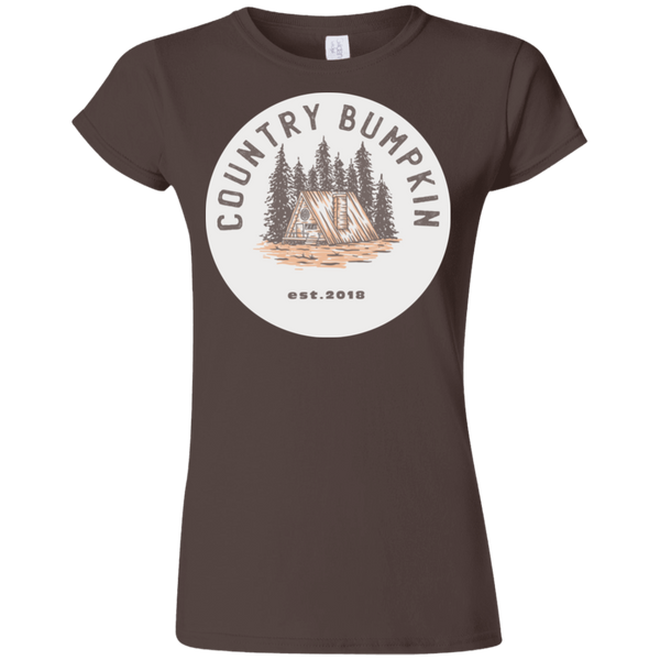 """Country Bumpkin"" Cottage Est 2018 G640L Softstyle Ladies' T-Shirt"