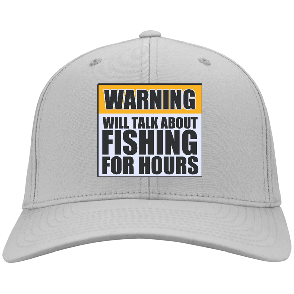 Will Talk About Fishing For Hours Personalized Twill Cap