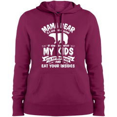 Mama Bear Top LST254 Sport-Tek Ladies' Pullover Hooded Sweatshirt