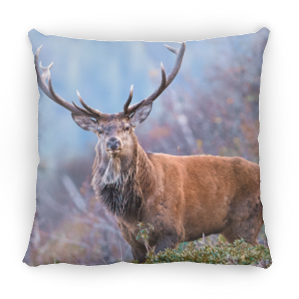 Deer Stag Square Pillow 14x14